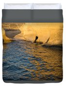 Early Morning Gold At Valletta Fortifications Duvet Cover