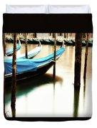 Early Morning Gondolas Duvet Cover