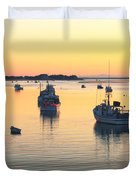 Early Morning In Chatham Harbor Duvet Cover