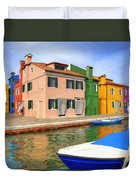 Early Morning In Isola Di Burano Duvet Cover