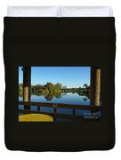 Early Morning In Lakes Park Fort Myers  Duvet Cover