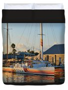 Early Morning In The Harbor Duvet Cover