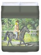 Early Morning Jaunt Duvet Cover by Carol Wisniewski