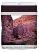 Early Morning Mystery Valley Colorado Plateau Arizona 04 Text Duvet Cover