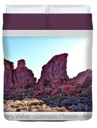 Early Morning Mystery Valley Colorado Plateau Arizona 05 Text Duvet Cover