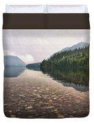 Early Morning On Lake Mcdonald II Duvet Cover