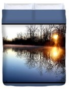 Early Morning On The Canal Duvet Cover