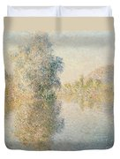 Early Morning On The Seine At Giverny Duvet Cover