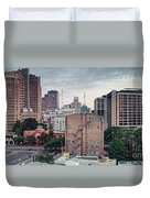 Early Morning Panorama Of Downtown San Antonio Skyline And Architecture - Bexar County Texas Duvet Cover