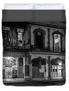 Early Morning Paseo Del Prado Havana Cuba Bw Duvet Cover