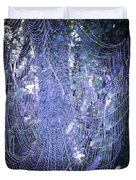 Early Morning Pearls Dew Kissed Spider Web Duvet Cover