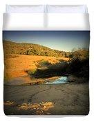 Early Morning Pond Duvet Cover