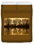 Early Morning Reflections Duvet Cover