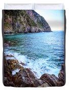 Early Morning Riomaggiore Cinque Terre Italy Duvet Cover