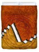 Early Morning Rounds Abstract Duvet Cover