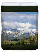 Early Morning Sawtooths Duvet Cover