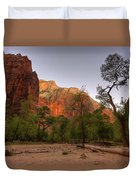 Early Morning Solitude At Zion  Duvet Cover