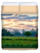 Early Morning Warmth Duvet Cover