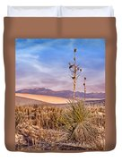 Early Morning Yucca - White Sands - New Mexico Duvet Cover