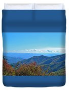 Early Mountain Autumn Duvet Cover