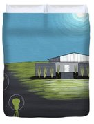 Early Painting Father And Son Aliens Duvet Cover