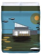 Early Painting Futuristic House Duvet Cover
