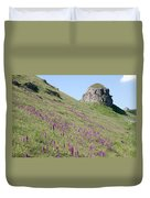 Early Purple Orchids In The Derbyshire Dales Duvet Cover