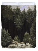 Early Snow Duvet Cover by Caspar David Friedrich