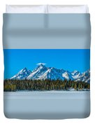 Early Spring In The Tetons Duvet Cover