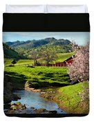 Early Spring In The Valley Duvet Cover