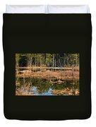 Early Spring Marsh Duvet Cover