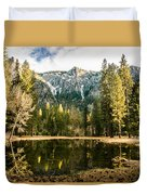 Early Spring Reflections Duvet Cover
