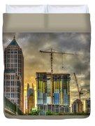 Early Start Skyscraper Construction Atlanta Georgia Art Duvet Cover