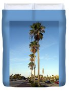 Early Sunday Morning In Daytona Beach  Duvet Cover