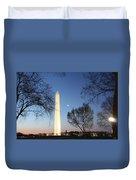 Early Washington Mornings - The Washington Monument Duvet Cover