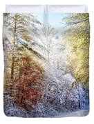 Early Winter's Walk Duvet Cover