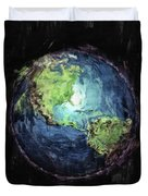 Earth And Space Duvet Cover