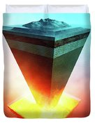 Earth Core Structure Cross-section Duvet Cover