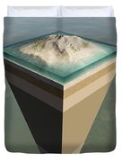 Earth Core Structure Cut-away Duvet Cover