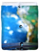 Earth Day Drips Duvet Cover