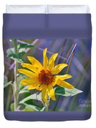 Earth Day Wild Flower  Duvet Cover