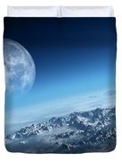 Earth Icy Ocean Aerial View Duvet Cover