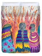 Earth Mothers - Feeding  The Fire Duvet Cover