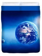 Earth Sunrise Deep Space Duvet Cover