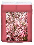 Earth Tones Apple Blossoms  Duvet Cover