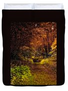 Earth Tones In A Illinois Woods Duvet Cover