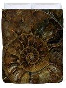 Earth Treasures - Brown Amonite Duvet Cover
