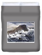 Earthquake And Tidal Wave Duvet Cover