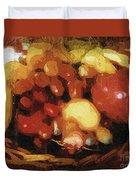 Earthtone Fruit Fresco Duvet Cover