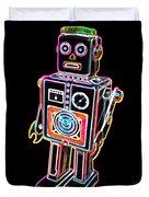 Easel Back Robot Duvet Cover